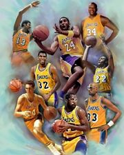 LOS ANGELES LAKERS LEGENDS 8X10 PHOTO LA BASKETBALL NBA KAREEM SHAQ KOBE MAGIC