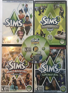 Sims 3 Bundle PC Games and expansion packs lot TESTED