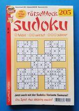 Kelter Sudoku Rätselblock Nr.205  NEU+unbenutzt 1A