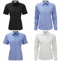 RUSSELL 934F 935F LADIES POPLIN EASY CARE SHIRT OFFICE SMART CORPORATE BLOUSE