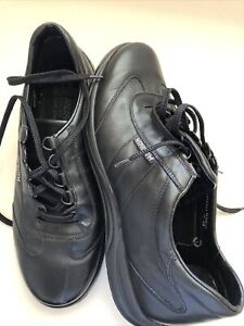 Mephisto Mens Black Soft Leather Shoes Size Us 12