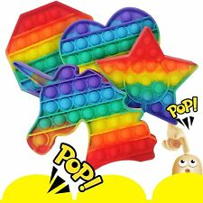 4 Stk Push it Pop Fidget Bubble Trend Spielzeug Toy Anti Stress Rainbow TikTok