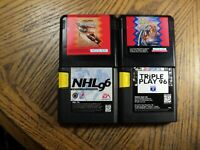 Lot of Sega Genesis Games Hard Ball III  Summer Challenge  NHL 96  +  Cartridges