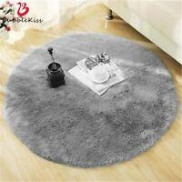 Soft Fluffy Round Rug Carpets Kids Room Bedroom Long Plush Area Rug Floor Mats