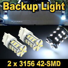 2x Bright White 3156 Car Backup Reverse Light Bulbs 42-SMD LED 3056 3155 293