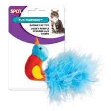 "1 - ETHICAL SPOT CATNIP FUN FEATHER 3"" CAT TOY ASSORTED STYLE FREE SHIP IN USA"