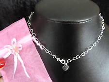 BRIDESMAIDS PRESENT GIFT NECKLACE SOLID SILVER CHILDS HEART LINKS SILVER 925