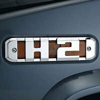 Fierce Hummer H2 Billet Chrome Side Marker Light Bezels With H2 Logo