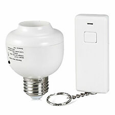 Wireless Remote Control Bulb Adapter Light Lamp Holder Socket for E27 Screw Port