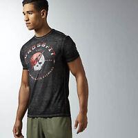 BNWT Men's Reebok CF Crossfit Skull T-Shirt Games Tough Mudder Gym Work Out