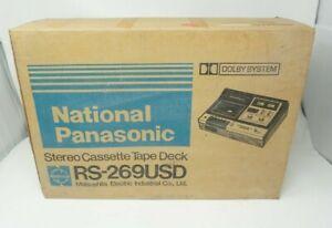 Panasonic Cassette Tape Deck RS-269USD With Original Box, Inserts & Manual