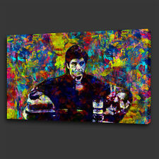 TONY MONTANA SCARFACE FILM COLOURFUL WALL ART CANVAS PRINT PICTURE READY TO HANG