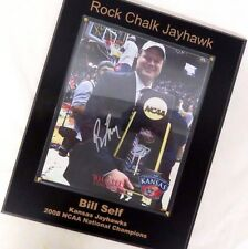 2008 KU Kansas Jayhawks Signed Autographed Bill Self NCAA Championship Plaque