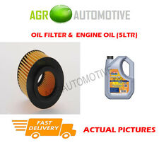 PETROL OIL FILTER + LL 5W30 ENGINE OIL FOR VOLKSWAGEN POLO 1.2 60 BHP 2009-14