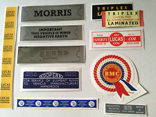 Austin Morris 1100 1300 AD016 Engine Bay Sticker Pack Riley Kestrel Wolseley MG