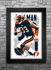 CHARLES TILLMAN art print poster CHICAGO BEARS FREE S H! JERSEY  525ed7095