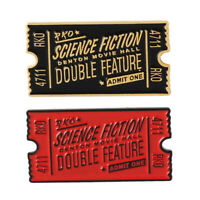 Rocky Horror Enamel Pins Movie Ticket Badge Admit One Brooch Film Jewelry Gifts