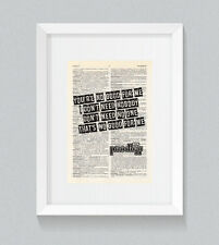 Le prodige NO GOOD (commencer la danse) paroles vintage Dictionnaire Livre print art