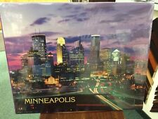 MINNEAPOLIS AT NIGHT SKYLINE GLOSSY POSTER PICTURE PHOTO 16x20 P R Siegrist