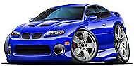 2004 2005 2006 Pontiac GTO Impulse Blue Metallic t-shirt holden in sizes S-3XL