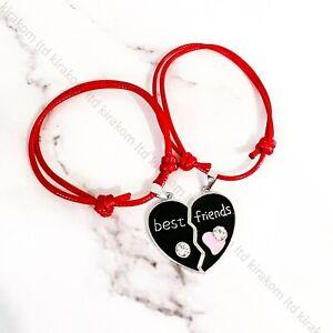 2pcs Best Friends Bracelet Heart Bangle Friendship BFF Friend Rope Christmas