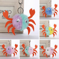 FM- Cute Animal Crab Key Ring Car Keychain Chain Women Bag Hanging Ball Pendant