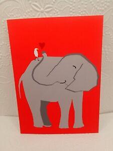 Happy Valentines Day Card BEST FRIENDS FOREVER Elephant Silkscreen Great Arrow ❤
