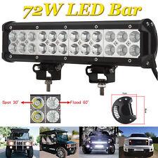 72W LED Work Lights Bar Spot Flood Light Offroad Vehicle Truck Car Lamp 12V 24V
