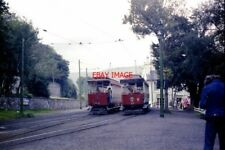 PHOTO  1978 TRAMS NOS 25 AND 32 LAXEY STATION TWO CROSS-BENCH MOTOR CARS OF THE