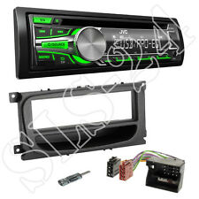 JVC KD-R453E CD Radio Set grün Ford Focus ab07 Blende schwarz + Quadlock Adapter