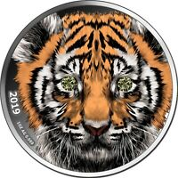 1000 Francs Cameroon 2019 - 1 OZ Diamond Indian Tiger 2019 - nur 333 Exemplare