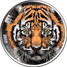 1000 Francs Cameroon 2019 - 1 OZ Diamond Indian Tiger 2019 - nur 333 Exemplare