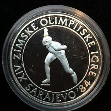 1984 Yugoslavia silver Olympic 100 D Skating PROOF