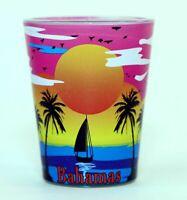 BAHAMAS PARADISE SUNSET SKYLINE SHOT GLASS SHOTGLASS