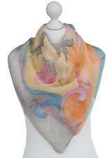 Le donne quadrato dipinto a mano Sciarpa di seta a fiori TULIP Sciarpe Primavera Regalo per Madre