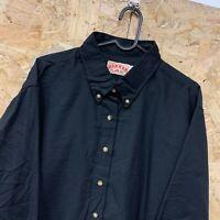 Vintage RED KAP Workwear Work Long Sleeve Shirt Black USA Size 20 / XL