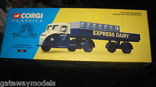 CORGI CLASSICS SCAMMELL SCARB SET EXPRESS DAIRY OLD SHOP STOCK 15101