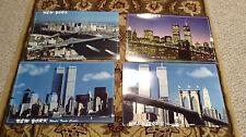 4 Poster NYC Skyline World Trade Center 2000 BrooklynBridge New York CityVintage