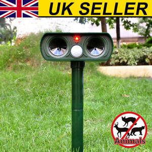 Repellent Solar Cat Repeller Scarer Dual Ultra Deterrent Garden Animal Chaser UK