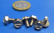 """Stainless Steel Hex Washer Head Slotted Machine Screw 6-32 x 1/4"""", 300 pcs"""