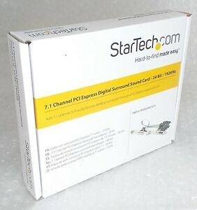 Startech 7.1 Kanal Digital Surround Soundkarte-PCI Express 24-bit 192khz