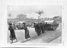 Fête du Tonkin Gare de Hải Phòng Haïphong Hanoï Indochine Viêt Nam GRAVURE 1902