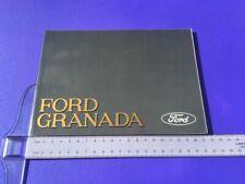 Ford Granada & Scorpio Owners Handbook / Instruction Manual - UK Issue 1/1988