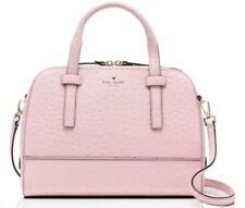 NWT Kate Spade Riverside Street Ostrich Small Felix Posy Pink  MSRP $548