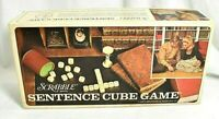 Vintage Scrabble Sentence Cube Game Complete w/score sheets, Timer & Dice 1971