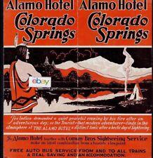 ALAMO HOTEL IN COLORADO SPRINGS COLORADO CONWAY BROS PIKES PEAK TOURS BROCHURE