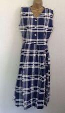 V-Neck Check Regular Size Sleeveless Dresses for Women