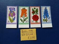 Berlin 1976, Wohlfahrt: Gartenblumen, Michel 524 - 527, **