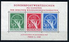 Berlin Währungsgeschädigte Block 1949** beide Plattenfehler geprüft (S10625)
