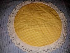 100% Cotton Gingham Check Cushion Cover Round Lace Sofa Pillow Case